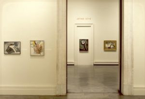 Installation view of Arthur Dove at the Albright-Knox Art Gallery, 1975. Albright-Knox Art Gallery Digital Assets Collection and Archives photo.