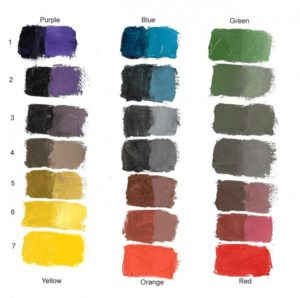 Mix grey by mixing opposite colours on the colour wheel. Artist Carol McIntyre photo.