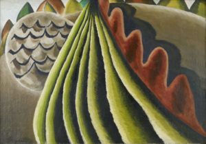 Fields of Grain as Seen from Train, 1931 Oil on canvas 24 x 34 1/8 inches by Arthur Dove