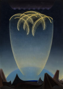 Messengers, 1932 Oil on canvas 28 x 20 inches by Agnes Pelton