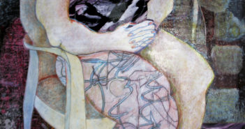 Orbiting Grief 2 Assemblage painting by Francesjoy Bradbury