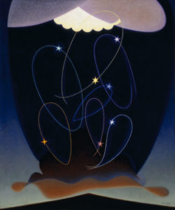 Orbits, 1934 Oil on canvas 36 1/4 by 30 inches by Agnes Pelton (1881-1961)
