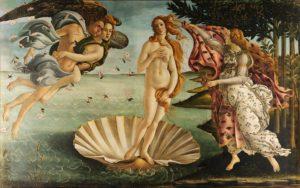 The Birth of Venus, c. 1484–1486 Tempera on canvas 172.5 cm × 278.9 cm by Sandro Boticelli (1445-1510)
