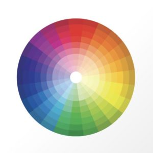 Notice the value (or lightness) of each colour moves up in the interior rings of the wheel.