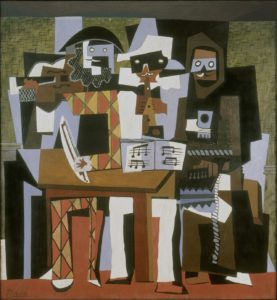 Three Musicians, 1921 Oil on canvas 204.5 x 188.3 cm by Pablo Picasso