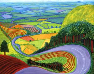 Garrowby Hill, 1998 Oil on canvas by David Hockney