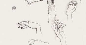 Parallels IV, 1974 Ink on paper 5.75 x 4.5 inches by Tony Urquhart (b. 1934)
