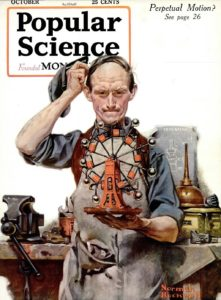 Perpetual Motion, (Popular Science cover), 1920 by Norman Rockwell
