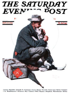 Saturday Evening Post cover, 1924 by Norman Rockwell