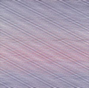 Cataract 3, 1967 Emulsion and PVA on board 221.9 x 222.9 cm by Bridget Riley