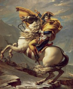 Napoleon Crossing The Alps, 1801 Oil on canvas 261 × 221 cm by Jacques-Louis David