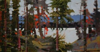 Entry of a Nicomekl Creek, Canada Day, 2010 Acrylic on canvas  11 x 14 inches by Robert Genn (1936-2014)