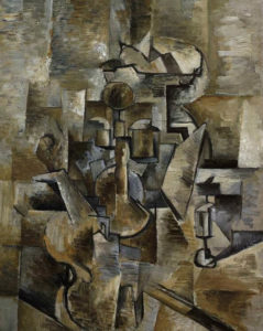 Violin and Candelstick, 1910 Oil on canvas by Georges Braque