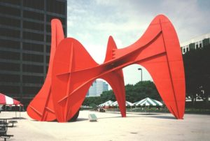 La Grand vitesse, 1969 Painted steel 43 × 30 × 54 feet by Alexander Calder