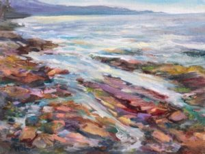 Galiano ShorelineOil on canvas board 8 x 10 inches by Jane Appleby
