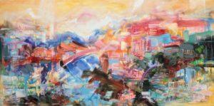 Island Rhapsody, 2021 Oil on Canvas 24 x 48 inches by Jane Appleby