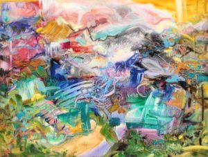 Jubilation (n. d.) Oil on Canvas 30 x 40 inches by Jane Appleby (b. 1964)