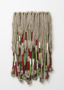 Sculpture Bas Relief, 2016 Linen 59 1/10 × 39 2/5 × 4 7/10 inches by Sheila Hicks (b. 1934)