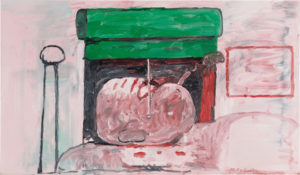 Smoking II, 1973 Oil on canvas 39 1/2 x 67 3/8 inches by Philip Guston (1913-1980)