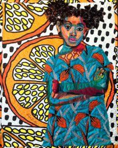 Anaya with Oranges, 2017 By Bisa Butler