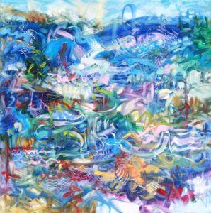 Invitation  20 x 20 inches Oil on Canvas