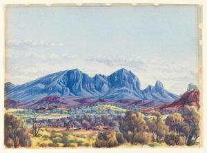 Mount Sonder, c 1945 Watercolour by Albert Namatjira