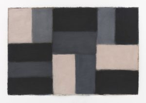 Doric M.12.2020, 2020 Pastel on paper, 40 x 60 inches by Sean Scully (b.1945)