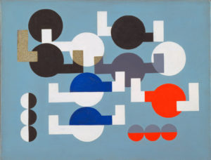 Composition of Circles and Overlapping Angles, 1930 by Sophie Taeuber-Arp (1889-1943)