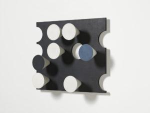 Relief rectangulaire, cercles découpés, cônes surgissants, 1936 by Sophie Taeuber-Arp