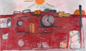 The Hill, 1971 Oil on canvas by Philip Guston