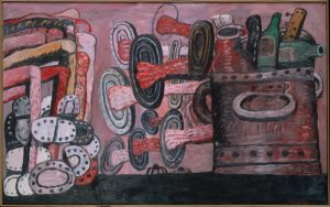 The Street, 1977 Oil on canvas 69 × 111 inches by Philip Guston