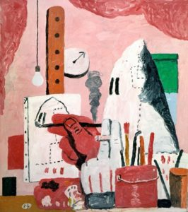 The Studio, 1969 Oil on canvas by Philip Guston