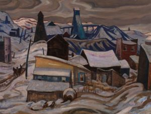 Ontario Mining Town, Cobalt , 1933 Oil on canvas 21 x 28.3 inches by A.Y. Jackson