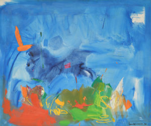 Such is the Way to the Stars (Sic Itur Ad Astra), 1962 Oil on canvas 60 1/8 × 72 1/8 × 1 inches by Hans Hofmann (1880 - 1966)