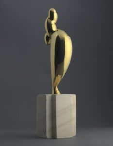 La jeune fille sophistiquée (Portrait de Nancy Cunard), 1932 Bronze on marble base by Constantin Brâncuși