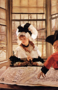 The Tedious Story, c. 1872 Oil on canvas by Jacques Joseph Tissot