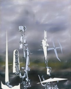 Les Transparents, 1951 Oil on canvas 987 × 810 mm by Yves Tanguy