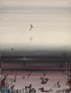 Mille Fois (A Thousand Times), 1933 Oil on canvas 635 × 510 mm by Yves Tanguy