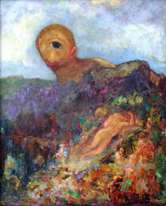 The Cyclops, c.1914 Oil on cardboard mounted on panel 25.9 x 20.7 inches by Odillon Redon