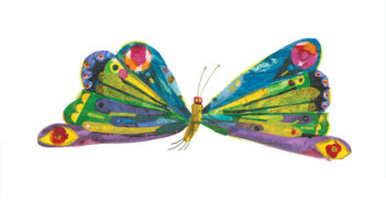 """llustration from """"The Very Hungry Caterpillar"""", 1969 and 1987 Collage by Eric Carle"""