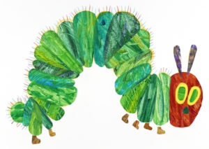 Illustration from The Very Hungry Caterpillar, 1969 and 1987 Collage by Eric Carle