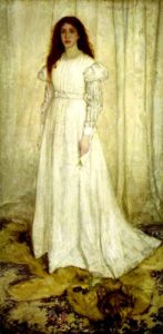 Symphony in White, No.1: The White Girl, c. 1862 Oil on canvas 84.5 x 42.5 inches by James McNeill Whistler (1834-1903)