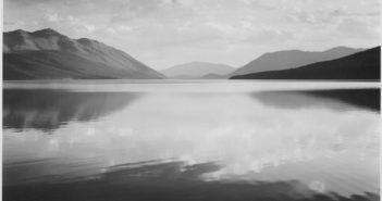 Evening, McDonald Lake, Glacier National Park,  1942 Gelatin silver print by Ansel Adams