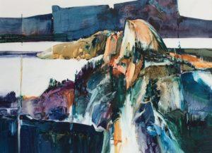 She Walks in Beauty Watercolour 21 x 29 inches by Jane R. Hoffstetter