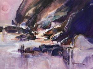 Shore Shapes Watercolour 21.5 x 29 inches by Jane R. Hoffstetter