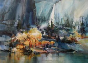 Yosemite October Watercolour 21 X 29 inches by Jane R. Hoffstetter (b. 1938)