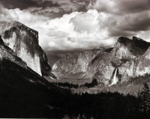 Thunderstorm, Yosemite Valley, 1945 Gelatin ilver print 14 3/4 × 19 inches by Ansel Adams