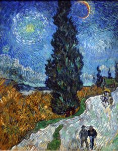 Saint-Rémy - Road with Cypress and Star, 1890 Oil on canvas 92 x 73 cm by Vincent van Gogh