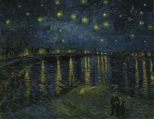 Starry Night Over the Rhone, 1888 Oil on canvas 72 x 92 cm by Vincent van Gogh