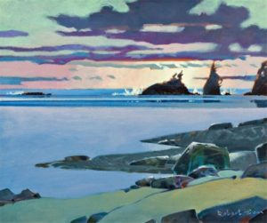 Sunset on the West Coast Trail, 1996 20 x 24 inches Acrylic on canvas by Robert Genn